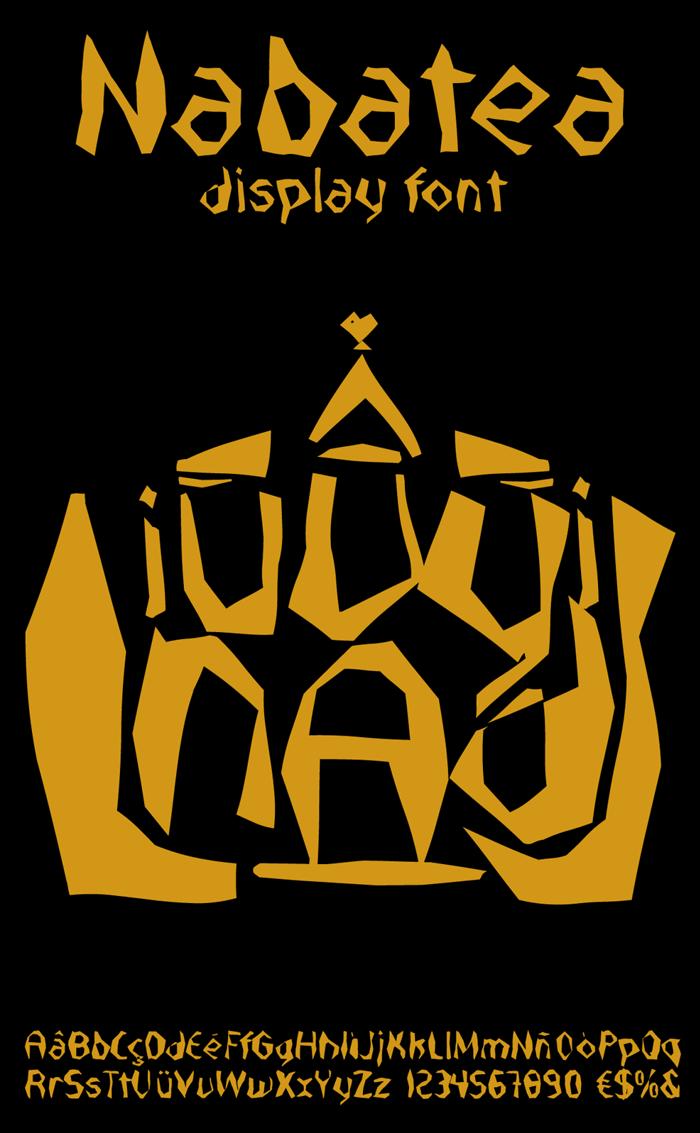 Nabatea Font poster
