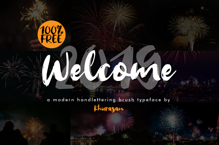 Welcome 2019 Font poster