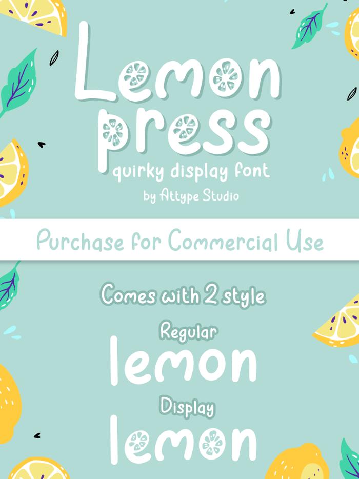Lemon Press Font poster