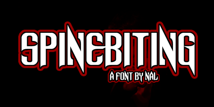 Spinebiting Font poster