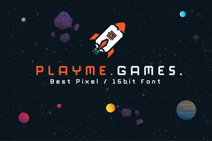 Play Me Games Font poster