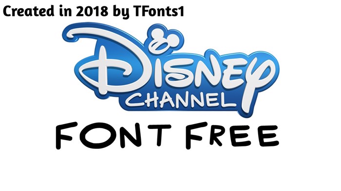Disney Channel Font poster