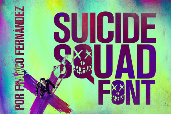 Suicide Squad Font poster