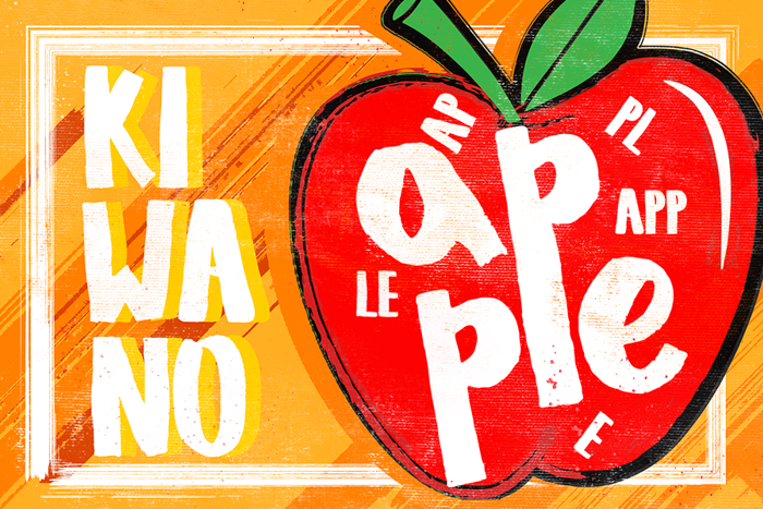 KIWANO APPLE Font poster