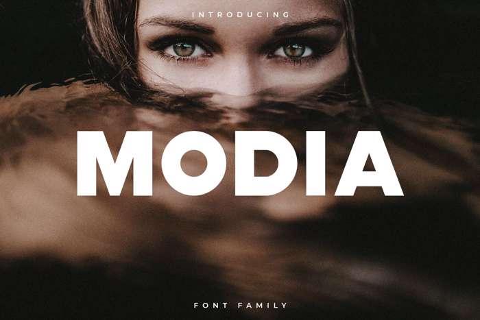 Modia Font poster