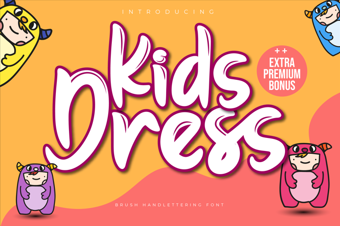 Kids Dress Font poster