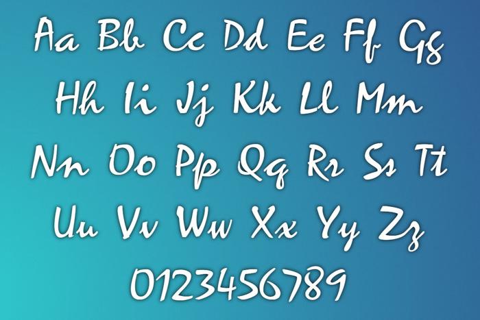 ZephyrScriptFLF Font poster