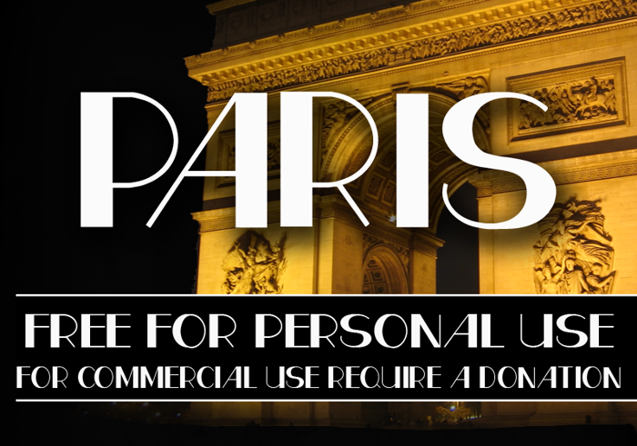 CF Paris Font poster