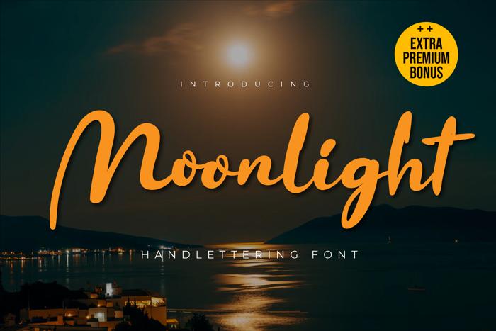 Moonligth Font poster