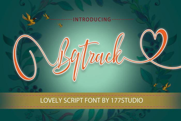 Bqtrack Script Font poster