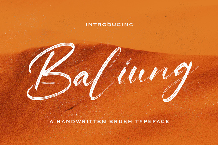 Baliung Font poster