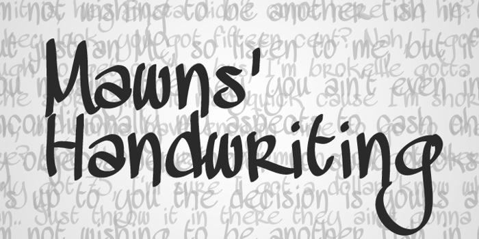 MAWNS Handwriting  Font poster