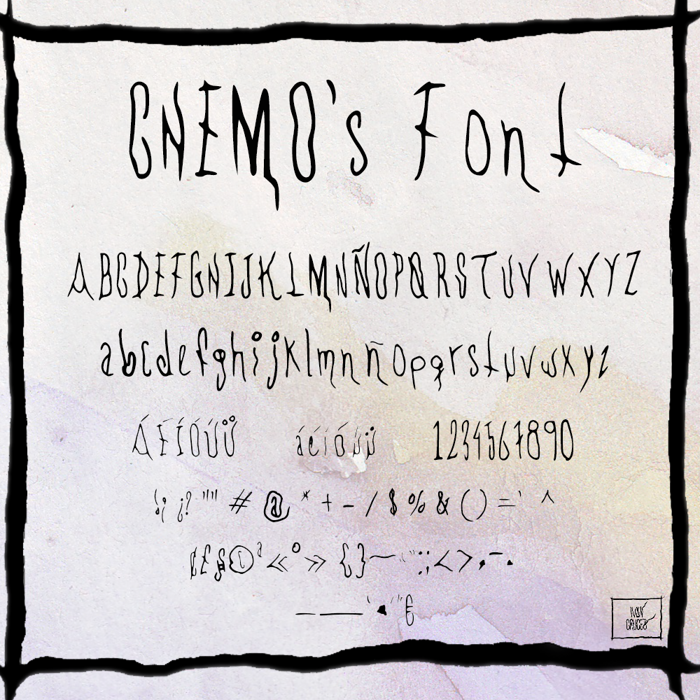 CHEMOs Font poster