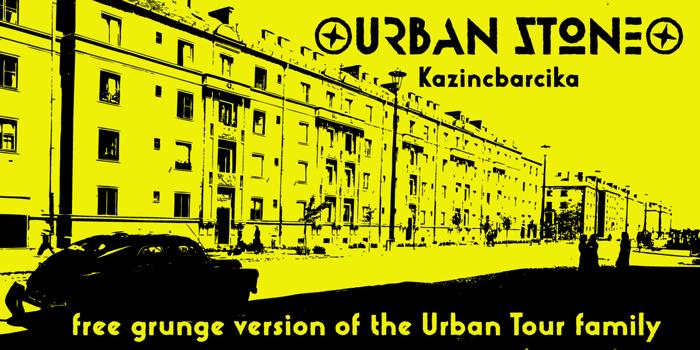 Urban Stone Font poster