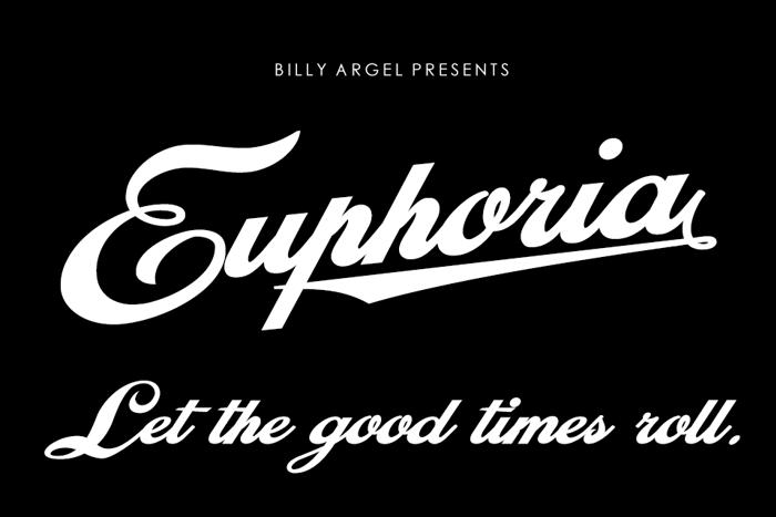 Euphoria Font poster