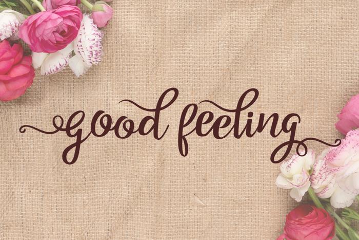 Good Feeling Script Font poster