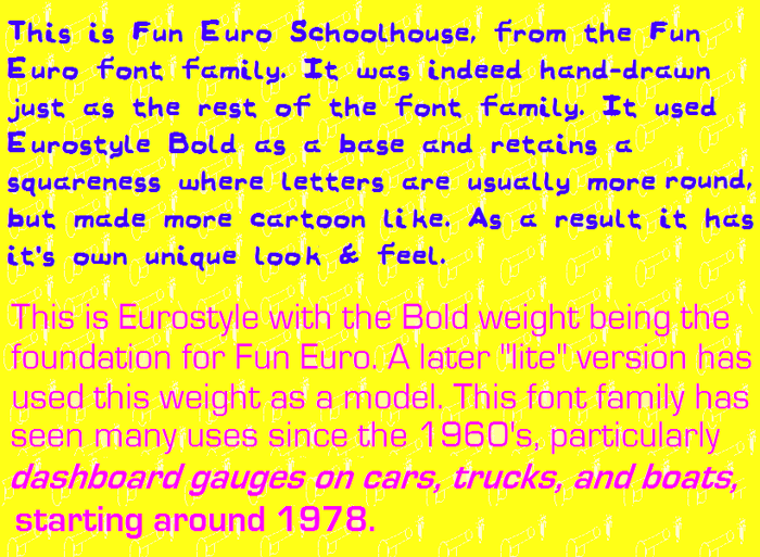 Name Day Cheers (formerly Fun Euro Schoolhouse) Font poster