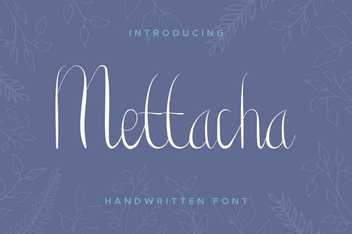 Mettacha Font poster