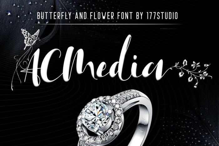 Acmedia Font poster