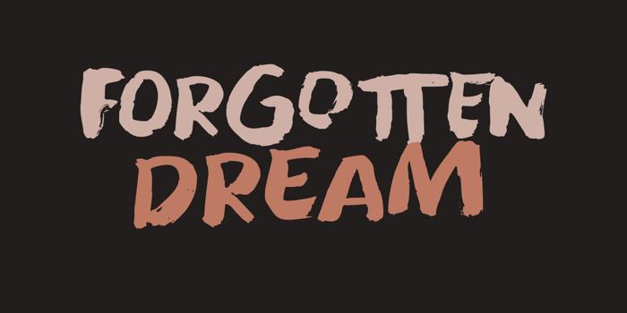 Forgotten Dream Font poster