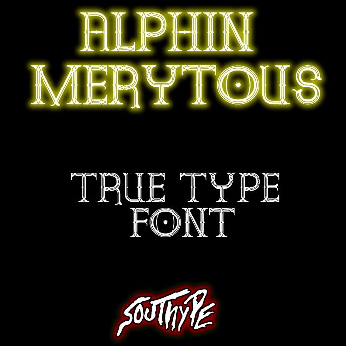 Alphin Merytous St Font poster