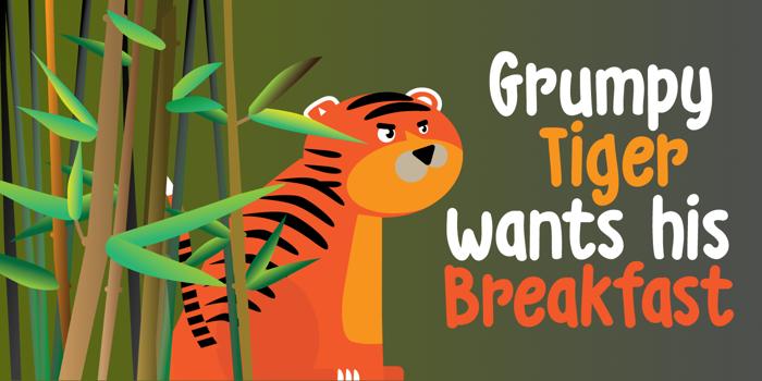 DK Grumpy Tiger Font poster