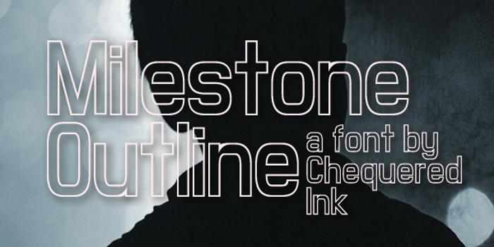 Milestone Outline Font poster