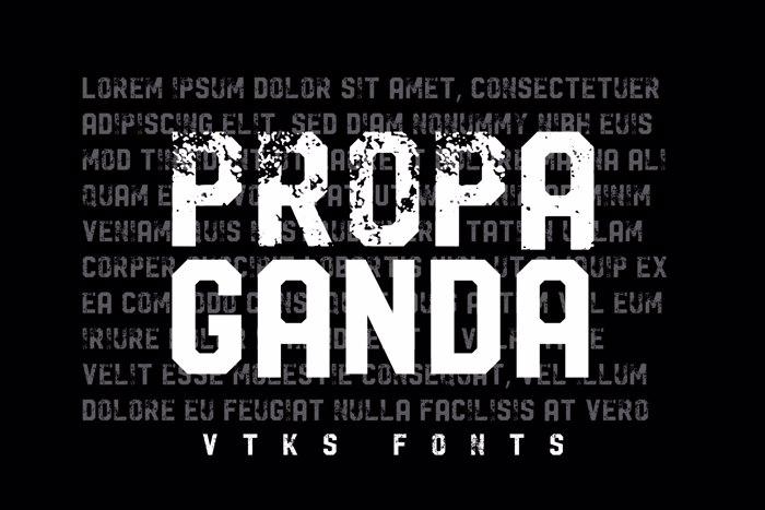 Vtks Propaganda Font poster