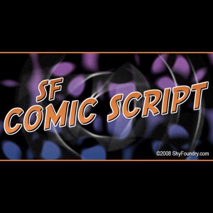 SF Comic Script Font poster