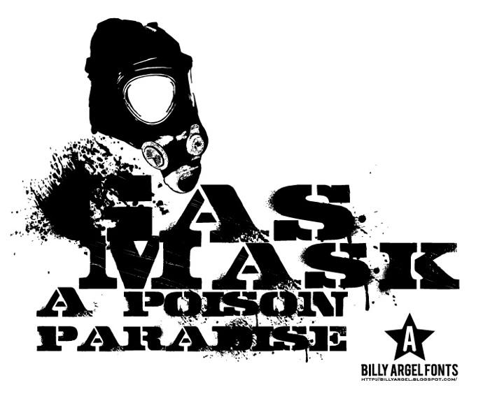 GASMASK Font poster