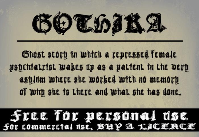 CF Gothika Font poster