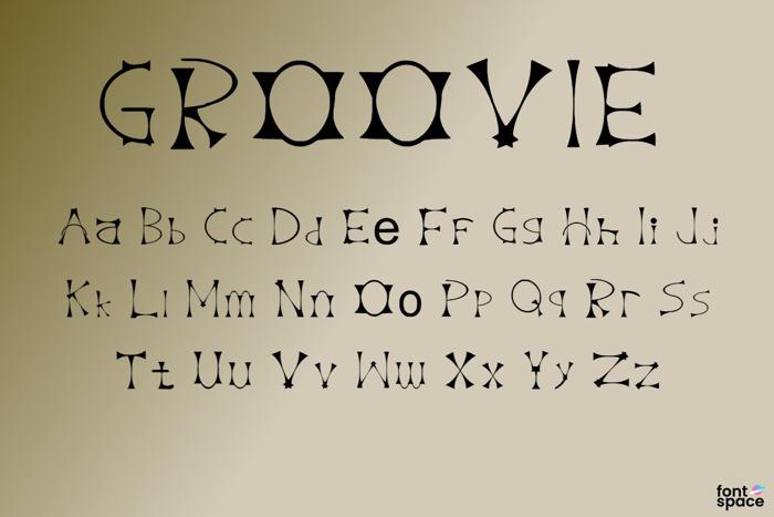 Groovie Font poster