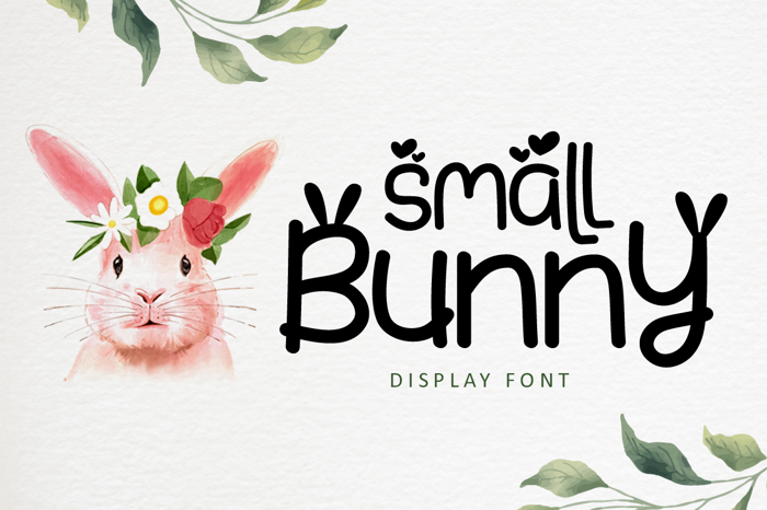 Small Bunny Font poster