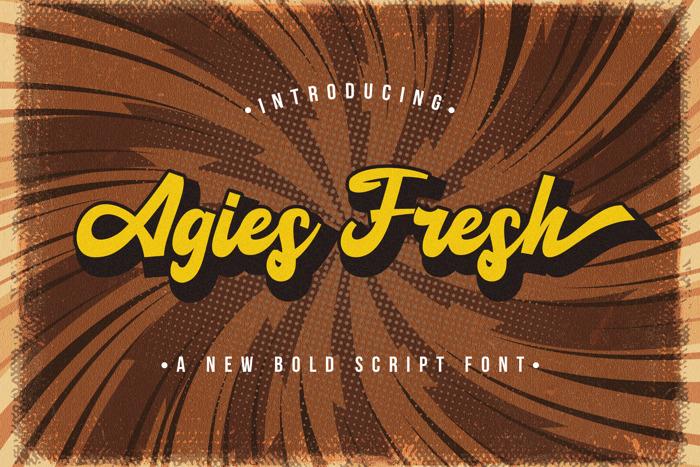 Agies Fresh Font poster
