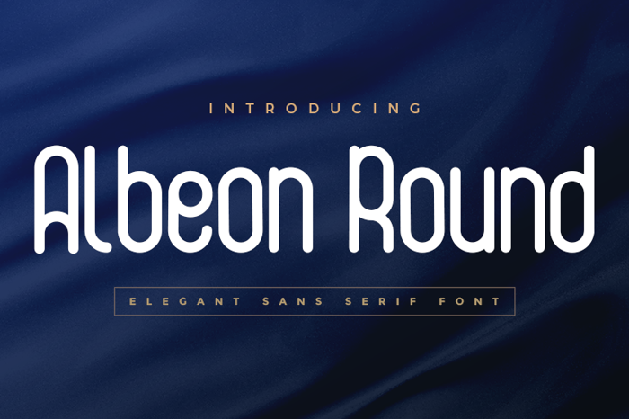Albeon Round Font poster