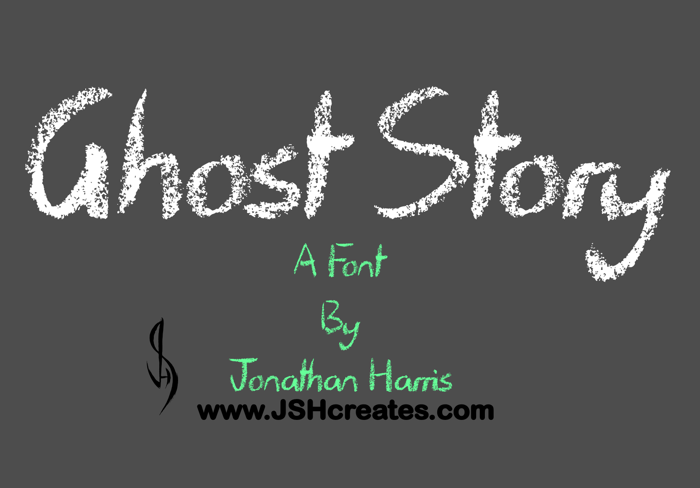 Ghost Story Font poster