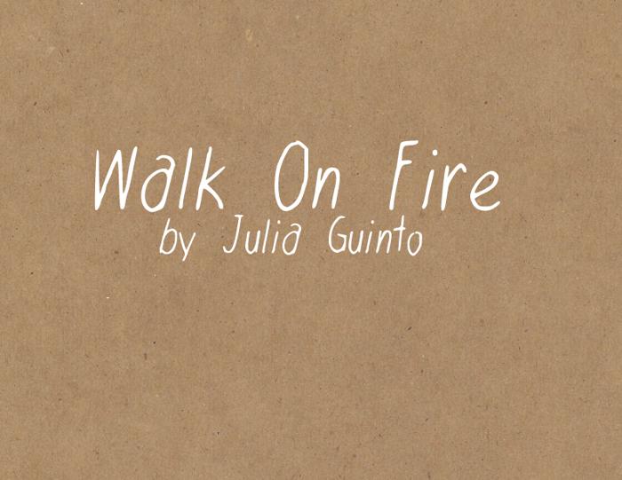 WalkonFire Font poster
