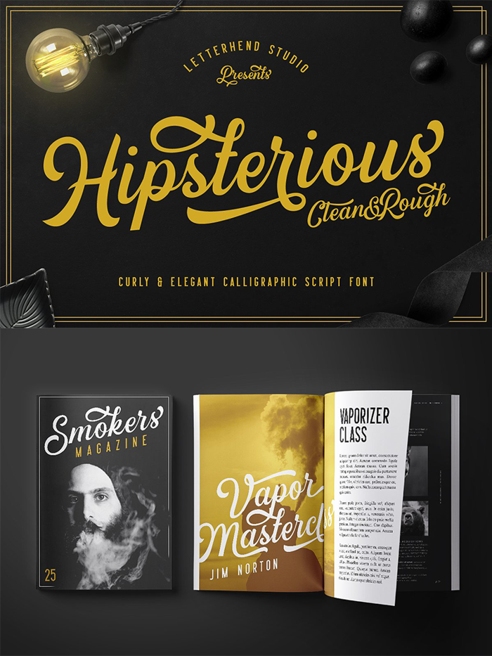Hipsterious DEMO Font poster