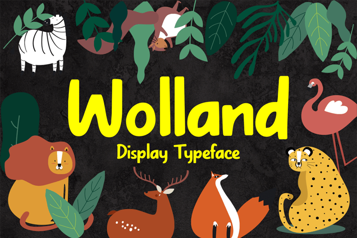 Wolland Font poster