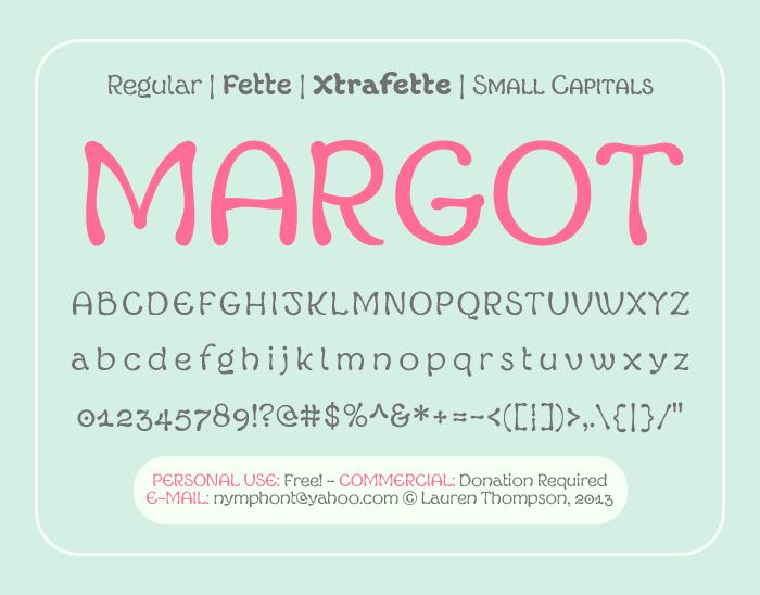 Margot Font poster