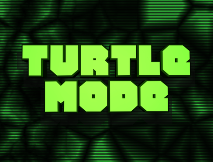 Turtle Mode Font poster
