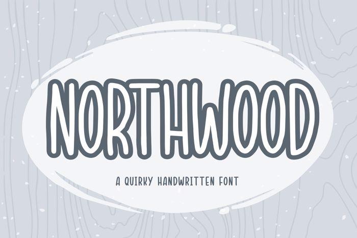 NORTHWOOD Font poster