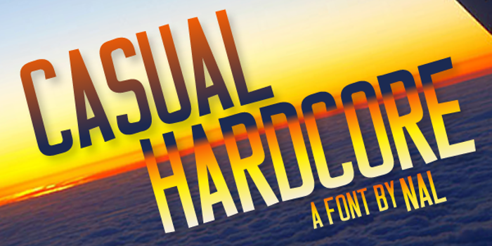 Casual Hardcore Font poster