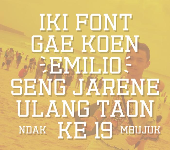 Emilio 19 Font poster