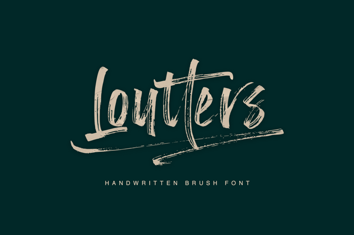 Loutters Font poster