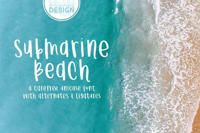 Submarine Beach Font poster