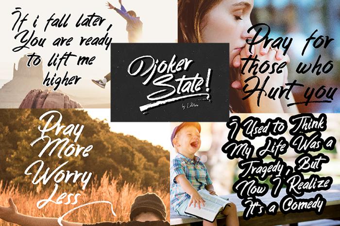 Djoker State Font poster