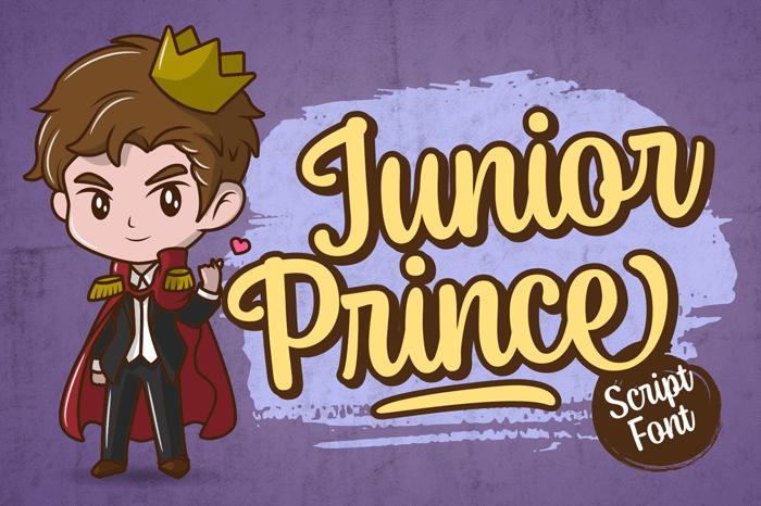 Junior Prince Font poster