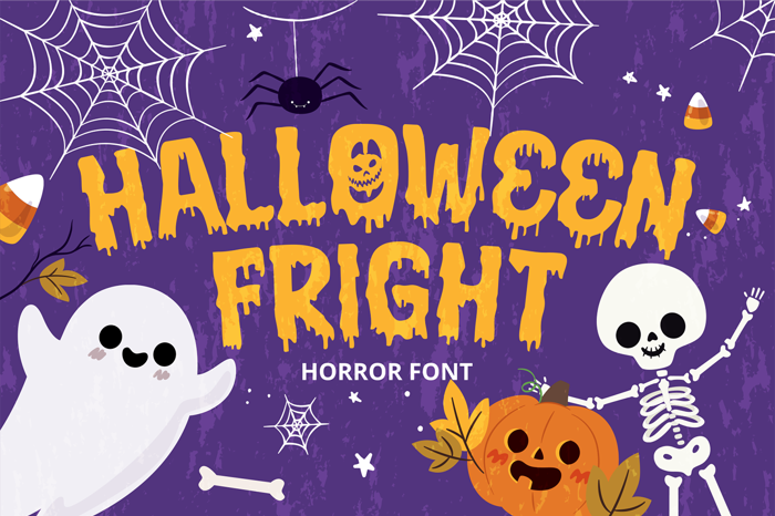 Halloween Fright Font poster