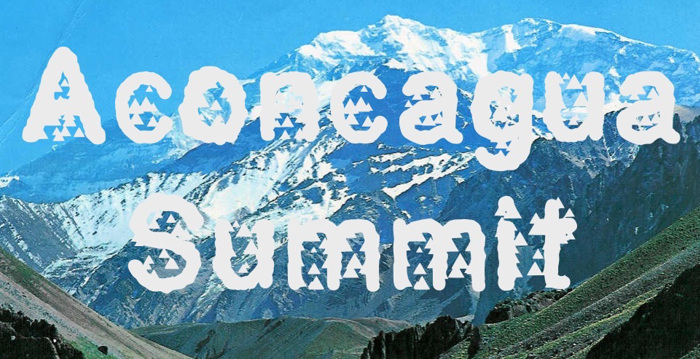 AconcaguaSummit Font poster